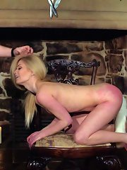 Cute blonde gets tied and her head put in the toilet as ..